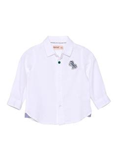 Silversun Kids Nakışlı Uzun Kol Önden Düğmeli Bebek Erkek Gömlek Gc 114638